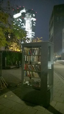 Public Bookcase near the European Central Bank in Frankfurt