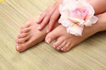 Kosmetische füsspflege