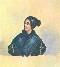 Лопухина Варвара Александровна. Рисунок Лермонтова