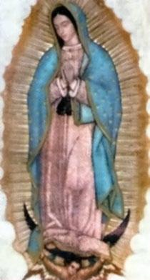 Heiligenbildchen von Guadelupe