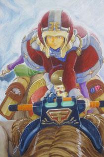 アクリルガッシュ画