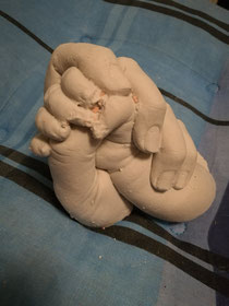 Baby und Mutter  Handabruck