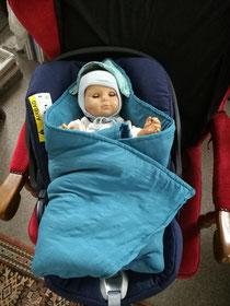 Einschlagdecke für Babyschalen