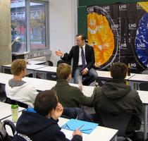 Patrick Meinhardt an der Uni Ulm