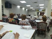 Unser Speisesaal wird zur Synagoge