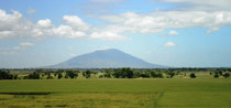 Rice Fields in Bulacan, Mt. Arayat in Pampanga