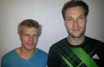 v.li. Malte Wienberg (Celler TV) und Sebastian Koch (VfL Kutenholz)