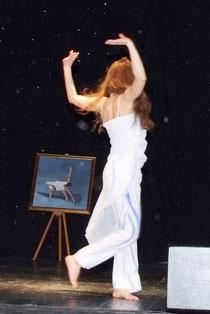 monica rasi caldogno durante l'esibizione