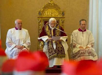 Papst Benedikt XVI. zurückgetreten