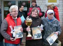 Franky, Elisabeth und Rudi bei der Siegerehrung