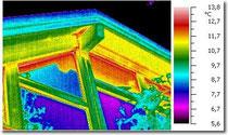Themografische Aufnahme eines Dachstockes