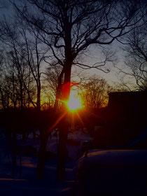 たんばらからの太陽
