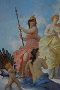 Particolare: Le tre dee: Minerva, Venere e Giunone (di spalle)