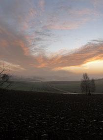 Morgenhimmel über dem Tal