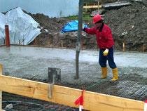 Beton für unsere Bodenplatte
