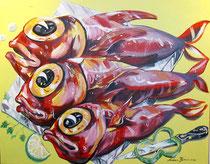 Gemälde von Aidan Bremner, Künstler in Lagos