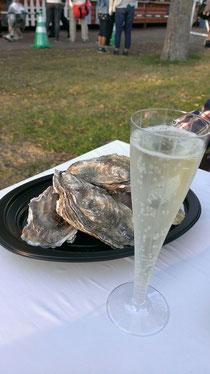 牡蠣とスパークリングワイン