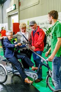 Probefahrt mit einem Easy Rider Dreirad