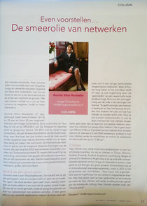 Column nr. 1, Even voorstellen,  Gonnie Klein Rouweler, Business Ontmoet Business
