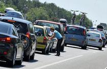 embouteillage: une vision hélas fréquente sur l'axe Avranches-Granville