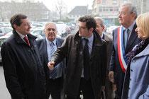 Benoist Apparu lors de son passage à la mairie de Saint-Lô