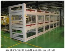 421 横スライドBX棚 3~5t用 BX3-35D-16M 3段16棚手動式