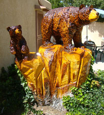 On-site bear carving