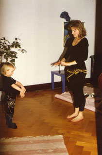 Learning belly dance