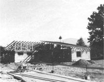 Rohbau des heutigen Clubheims, 1976