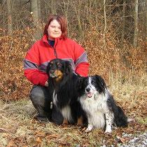 Ich mit Deika (re) und Toby (li)