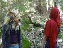 Rotkäppchen und Wolf im Lerautal