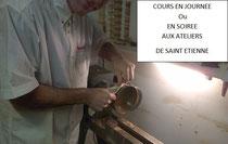 Cours de tournage sur bois à Saint-Etienne