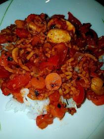 Veganes Gemüse Hack mit Reis