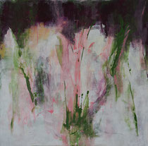 100 cm x 100 cm, Acrylmalerei, shaping auf Leinwand