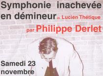 Haut de l'affiche du spectacle pour le Centre Culturel Hubert Juin de Athus