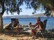 Unser Frühstücksplatz bei Agios Apostoli