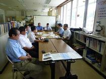 室戸事務所を訪問して、川内所長、西原技術次長に説明