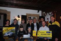 Charity Race Taxi Scheckübergabe