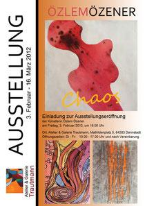 Plakat zur Ausstellung von Özlem Özener