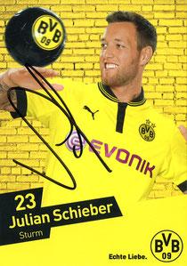 Autogrammkarte Julian Schieber