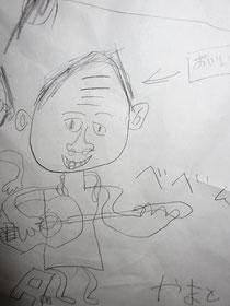 ギターを弾くお爺ちゃん
