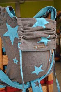 Wraptai aus Kokadi Sterne Blau/Mokka