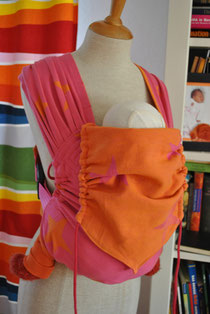 Wrapbuckle aus Kokadi Sterne Pink/Orange