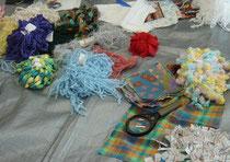 たっぷりの糸と布にワクワク♪♪