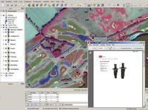 GIS mit Infrarotluftbild als Grundlage