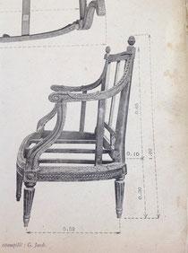 Tiré de la Collection des bois de sièges du Mobilier National, Dumonthier, Massin Éditeur Paris