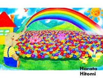 虹のシャワー