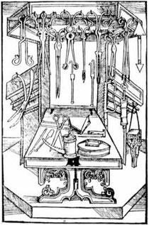 """""""Von den Instrumenten"""" - Buch der Cirurgia, S. XIX. Strassburg, 1497"""