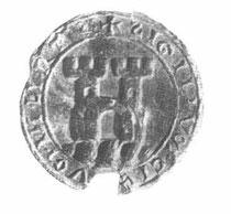 Siegel um 1270 (aus: Hoffmann, Alfred; Siegel und Wappen der Stadt Linz. In Jahrbuch der Stadt Linz, 1935.)