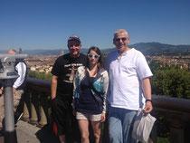 """Bussi, """"Uschi"""" und Meico in Florenz"""